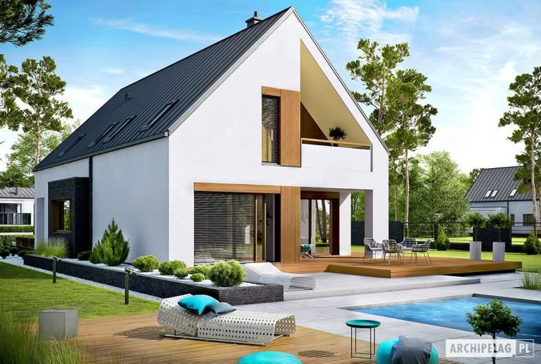 Projekt domu Riko III G2 - wizualizacja ogrodowa