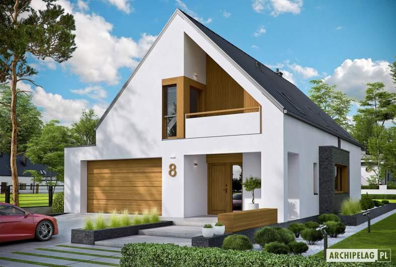 Projekt domu Riko III G2 - wizualizacja frontowa