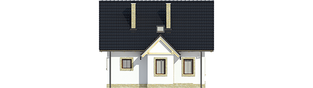 Projekt domu Ewelinka - elewacja frontowa