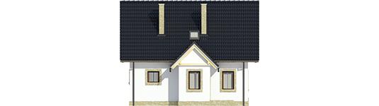 Evelínka - Projekt domu Ewelinka - elewacja frontowa