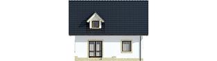 Projekt domu Ewelinka - elewacja tylna