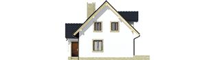 Projekt domu Ewelinka - elewacja lewa