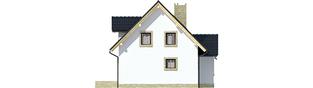 Projekt domu Ewelinka - elewacja prawa