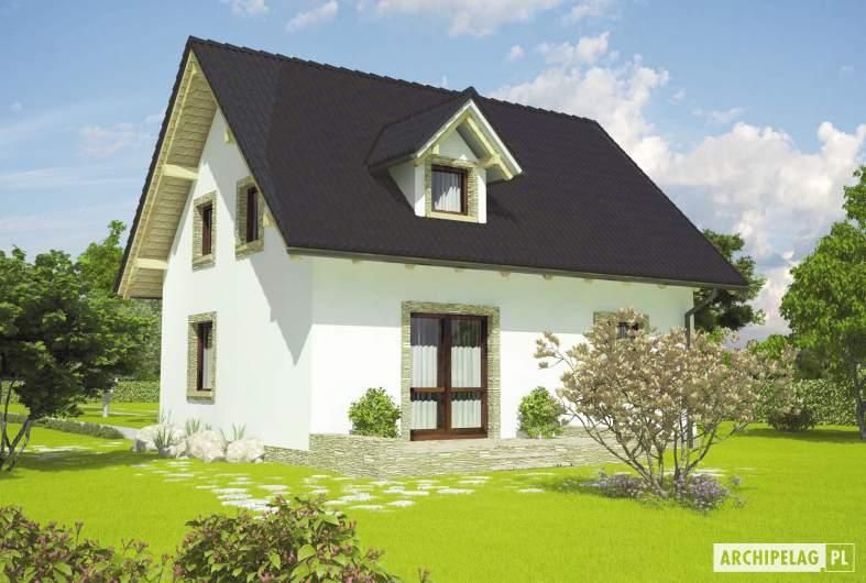Projekt domu Ewelinka - wizualizacja ogrodowa