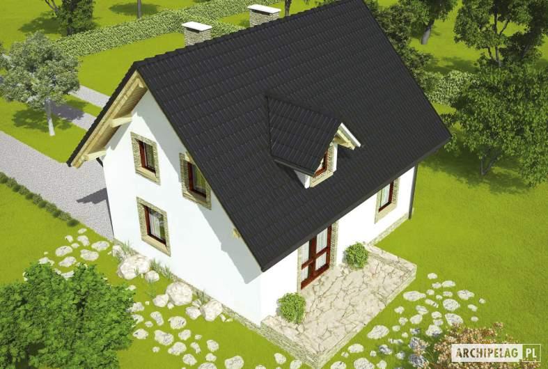 Projekt domu Ewelinka - widok z góry
