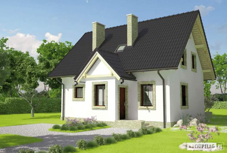 Projekt domu Ewelinka - wizualizacja frontowa
