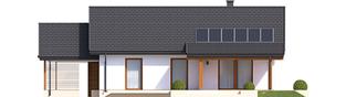 Projekt domu Kornel VI (z wiatą) ENERGO - elewacja tylna