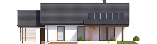 Kornelijus VI ENERGO - Projekt domu Kornel VI (z wiatą) ENERGO - elewacja tylna