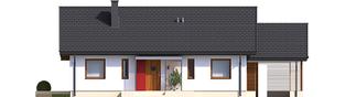 Projekt domu Kornel VI (z wiatą) ENERGO - elewacja frontowa