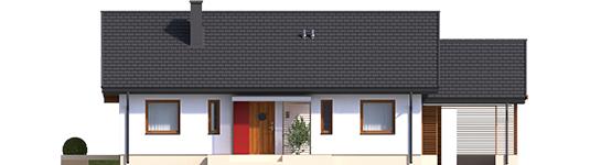Kornelijus VI ENERGO - Projekt domu Kornel VI (z wiatą) ENERGO - elewacja frontowa