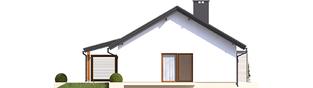 Projekt domu Kornel VI (z wiatą) ENERGO - elewacja lewa