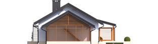 Projekt domu Kornel VI (z wiatą) ENERGO - elewacja prawa