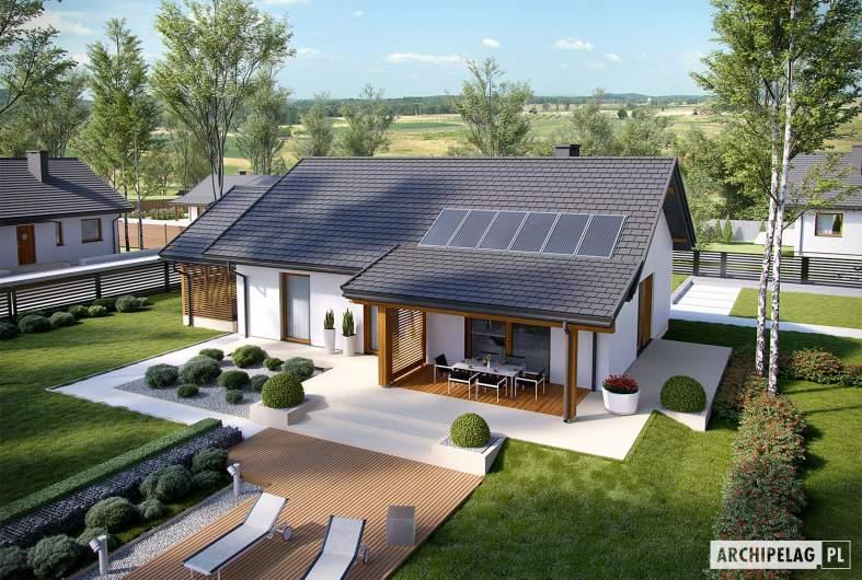 Projekt domu Kornel VI (z wiatą) ENERGO - widok z góry