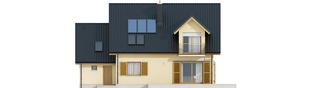 Projekt domu Marisa IV G1 ENERGO - elewacja tylna