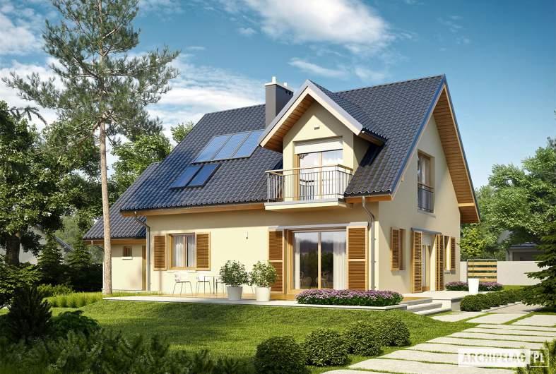 Projekt domu Marisa IV G1 ENERGO - Projekty domów ARCHIPELAG - Marisa IV G1 ENERGO - wizualizacja ogrodowa