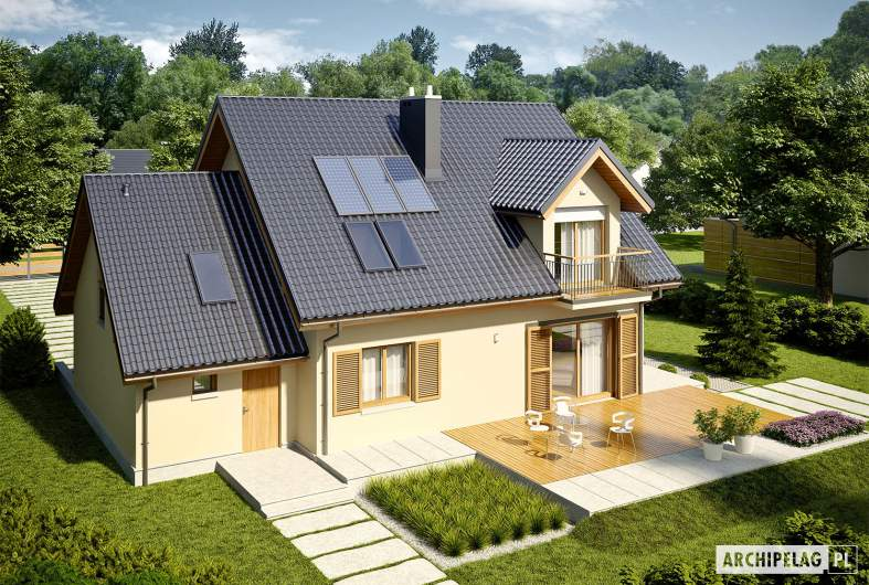 Projekt domu Marisa IV G1 ENERGO - Projekty domów ARCHIPELAG - Marisa IV G1 ENERGO - widok z góry