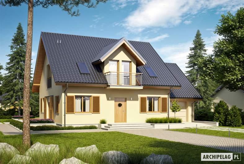 Projekt domu Marisa IV G1 ENERGO - Projekty domów ARCHIPELAG - Marisa IV G1 ENERGO - wizualizacja frontowa