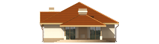 Projekt domu Lidka G1 - elewacja tylna