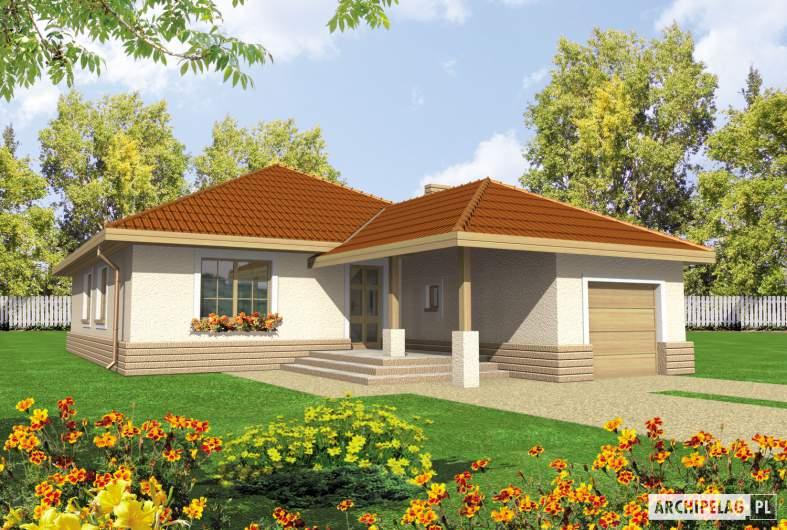 Projekt domu Lidka G1 - wizualizacja frontowa
