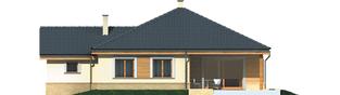 Projekt domu Harold II G1 - elewacja tylna