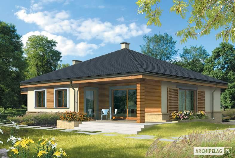 Projekt domu Harold II G1 - wizualizacja ogrodowa