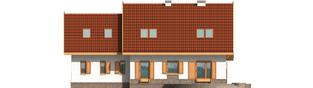 Projekt domu Iskierka G2 - elewacja tylna