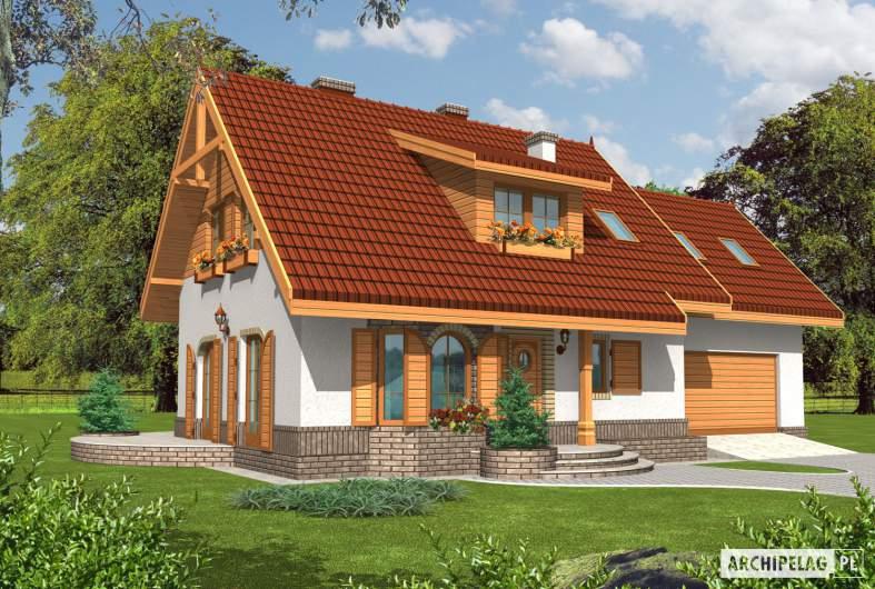 Projekt domu Iskierka G2 - wizualizacja frontowa