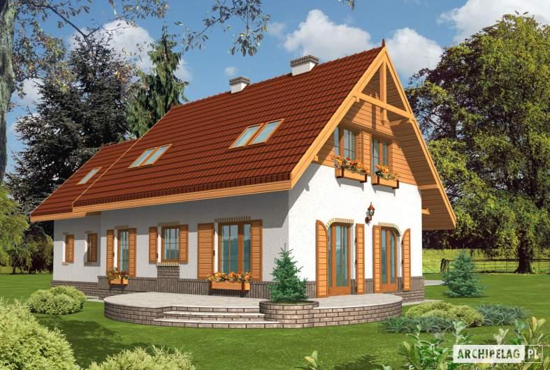 Projekt domu Iskierka G2 - wizualizacja ogrodowa