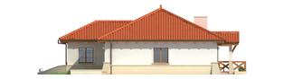 Projekt domu Edyta (e. I) - elewacja lewa