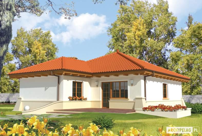 Projekt domu Edyta (e. I) - wizualizacja ogrodowa