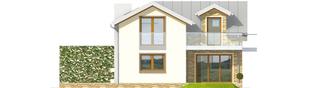 Projekt domu Kira G1 - elewacja tylna