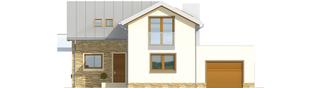 Projekt domu Kira G1 - elewacja frontowa