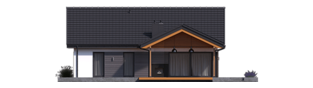 Projekt domu Simon III G2 - elewacja tylna