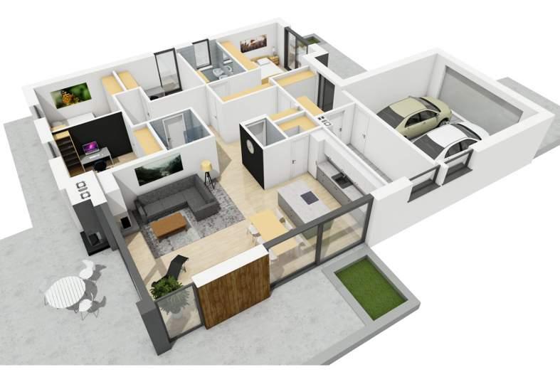 Projekt domu Simon III G2 - rzur 3D