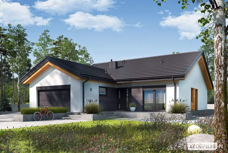 Projekt domu Simon III G2 - wizualizacja frontowa