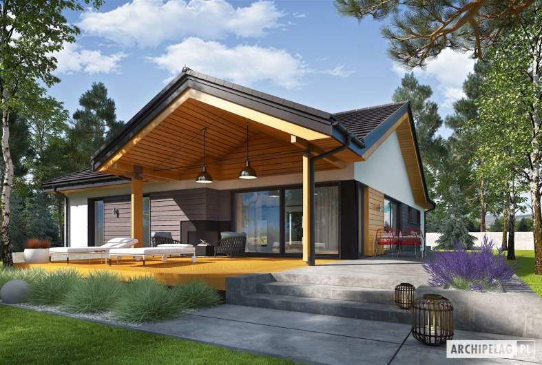 Projekt domu Simon III G2 - wizualizacja ogrodowa
