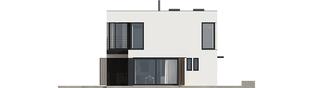 Projekt domu EX 2 ENERGO PLUS  - elewacja lewa