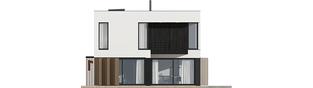 Projekt domu EX 2 ENERGO PLUS  - elewacja tylna