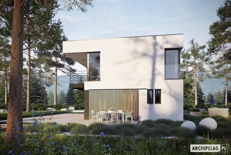 Projekt domu EX 2 - wizualizacja lewa
