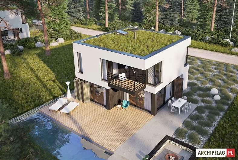 Projekt domu EX 2 - widok z góry