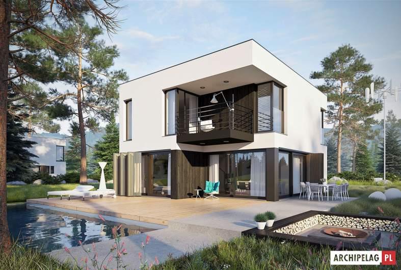 Projekt domu EX 2 - wizualizacja ogrodowa