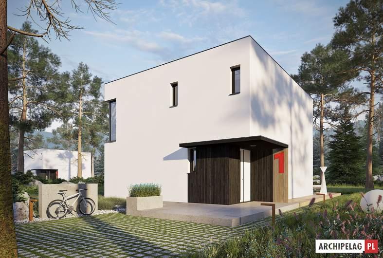 Projekt domu EX 2 - wizualizacja frontowa