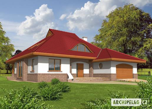 Projekt rodinného domu - Jacek (v. II)