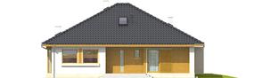 Projekt domu Flori III (30 stopni) - elewacja frontowa