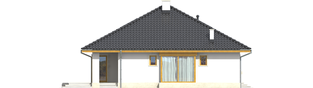 Projekt domu Flori III (30 stopni) - elewacja lewa