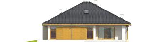 Projekt domu Flori III (30 stopni) - elewacja tylna