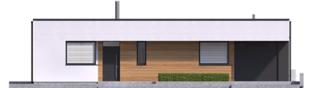 Projekt domu Mini 1 G1 MODERN PLUS - elewacja frontowa