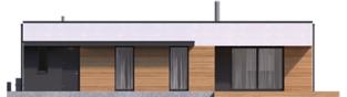 Projekt domu Mini 1 G1 MODERN PLUS - elewacja tylna