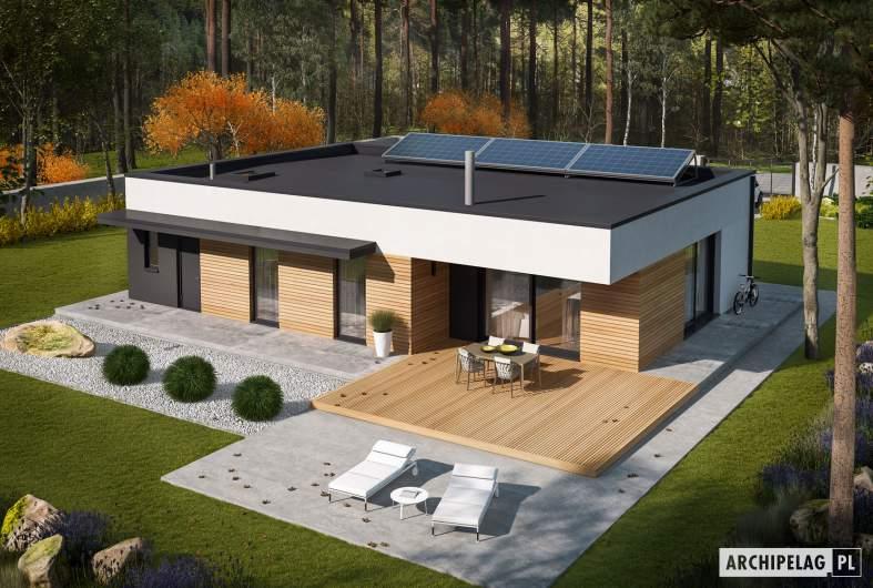 Projekt domu Mini 1 G1 MODERN PLUS - widok z góry