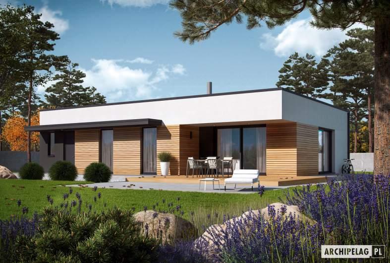 Projekt domu Mini 1 G1 MODERN PLUS - wizualizacja ogrodowa